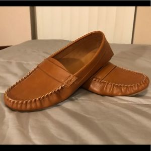 Old Navy Brown Leather Loafers